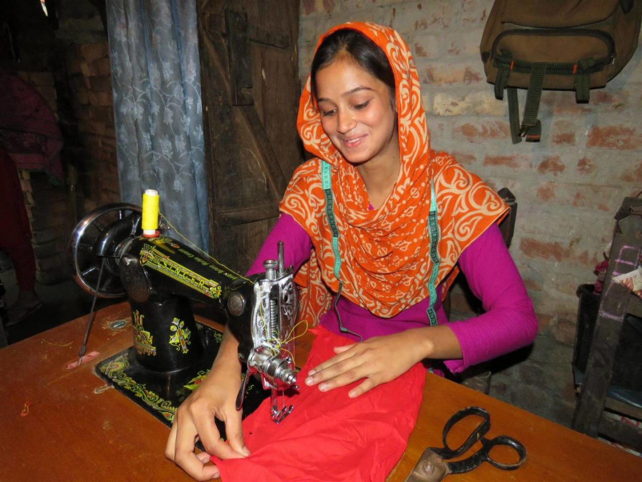 Tania used to work in a dangerous shrimp depot in Bangladesh. Now, with World Vision's help, she has received skills training to more safely provide for her family.