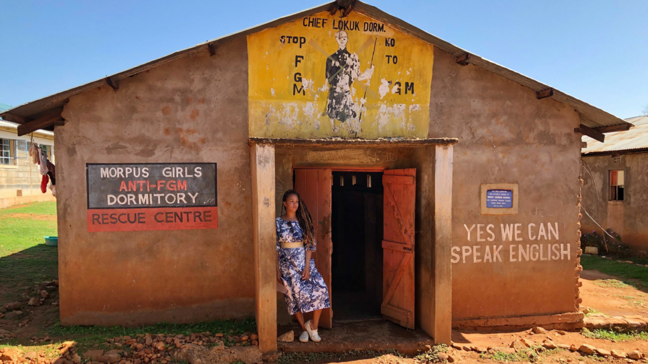 "A school in Kenya is helping protect young girls from FGM and child marriage. This cause is a passion for blogger Breegan Jane, who recently met at-risk girls: ""some of the bravest I've ever encountered."" See how Breegan is fundraising to protect, educate, and empower more girls — and how you can too!"