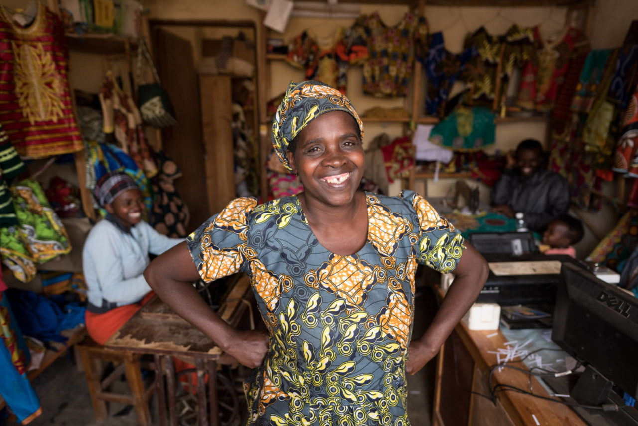 Beata smiles as she proudly shows off her shop.