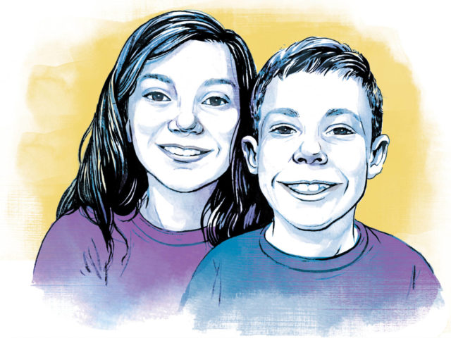 Peyton and Mason Fritz are two Lake Center Christian School students who participated in the Matthew 25 Challenge.