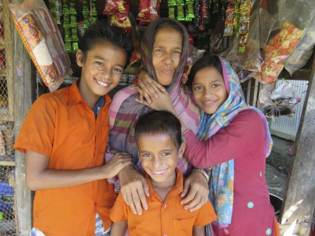 Children in Bangladesh used to work by the Mongla River, but now they are attending classes.