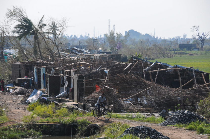 Cyclone Phailin struck the east coast of India's Odisha state on Oct. 12, 2013. In this small settlement outside the town of Berhampur, more than 200 homes were damaged.