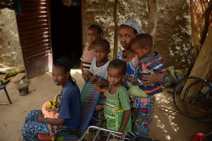 """Conflict and drought in Mali have created a humanitarian crisis. """"I still feel afraid,"""" says 30-year-old Mariama Bari, a mother of six who fled her home because of armed conflict in Central Mali."""