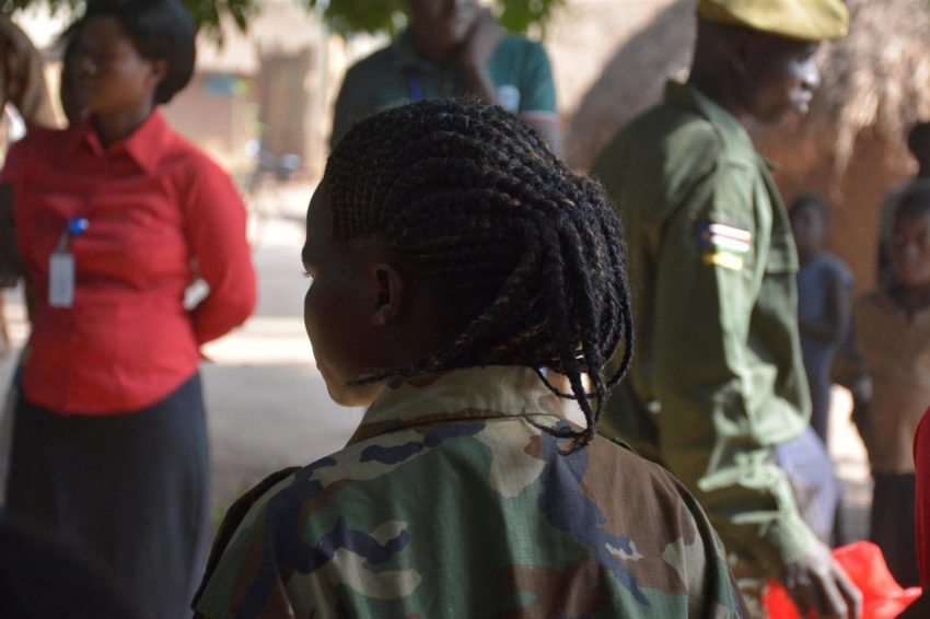 Child rights violations in South Sudan. Agnes (name changed) was 13 abducted by one of South Sudan's armed groups at 13. She was released after three years as a child soldier and is receiving counseling and support to rebuild her life from World Vision case workers.