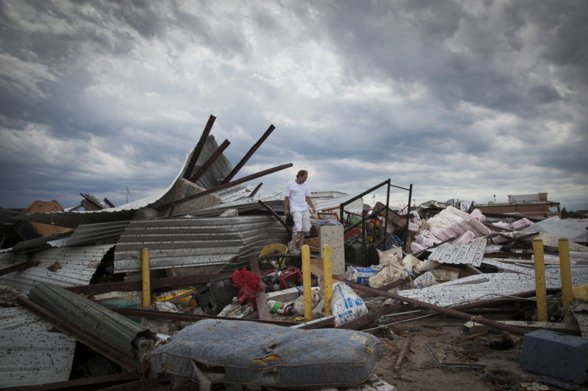 The deadly EF5 Moore Oklahoma tornado in May 2013 with winds of 200 mph cut a 14-mile long gash of destruction through Moore, Oklahoma. It was then followed by more tornadoes, leaving 47 dead and more than $2 billion in damage.