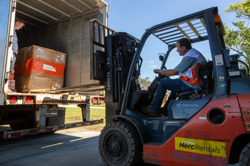 World Vision has sent relief supplies to North Carolina to help survivors of Hurricane Florence.