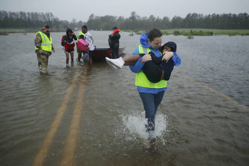 400-mile-wide Hurricane Florence made landfall over North Carolina on Sept. 14 as a Category 1 hurricane with 90 mph winds and terrifying storm surge.
