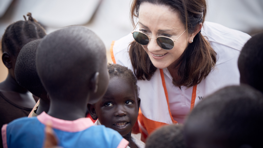 Patricia Heaton helped cook for South Sudanese refugees as they arrived South Sudan into Northern Uganda. Inspired by her trip and providing that first warm meal to welcome the newcomers, Patricia guest blogs about a recipe for winter corn chowder.