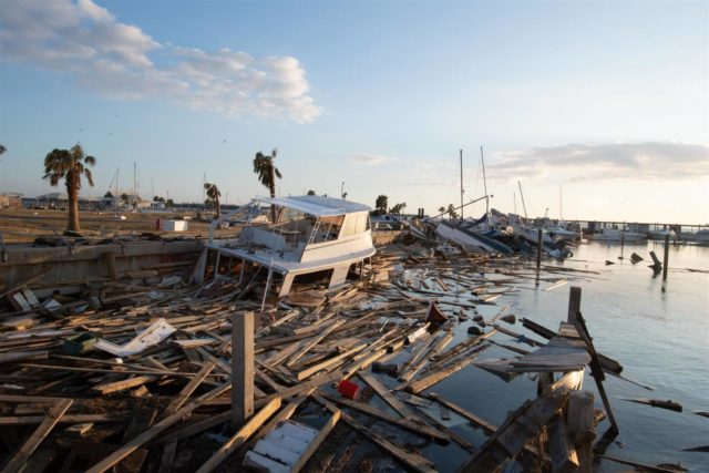 Hurricane Michael, a Category-4 storm, laid waste to the Florida Panhandle when it made landfall on Oct. 10, 2018. Destroyed docks and damaged boats in Panama City, Fla., show the results of Hurricane Michael's landfall in the Florida Panhandle.