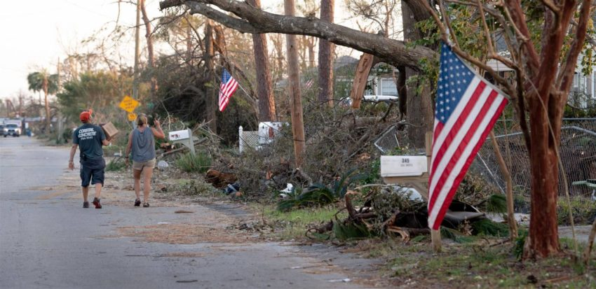 Hurricane Michael was the only Category 4 storm to ever hit the Florida Panhandle. Coastal residents take stock of Hurricane Michael's damage in their Panama City, Fla., neighborhood.