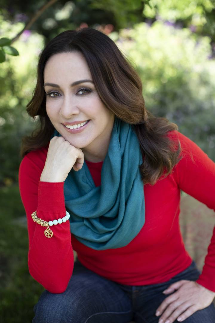 Patricia Heaton wears items from The Grace Collection by Patricia Heaton, a hand-crafted jewelry line created in partnership with Gifts With a Cause.