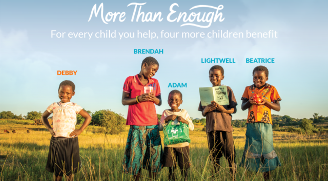 Because of our community-focused solutions, for every child you help, four more children benefit, too. Debby and her friends are all benefiting thanks to the fact that she's sponsored.