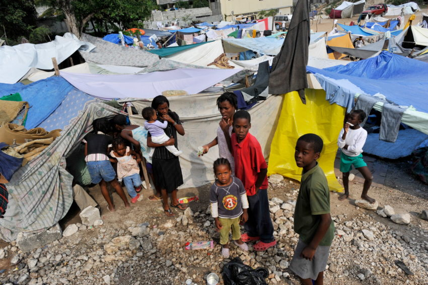 The 2010 Haiti earthquake left 1.5 million people homeless and in need of immediate assistance. In Port-au-Prince, the capital, people occupied unsafe and unsanitary camps they set up on the streets.