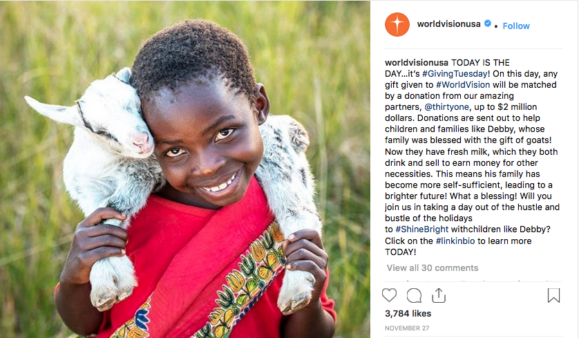 These six Instagram posts of 2018 embody the theme of courage: children, families, World Vision staff, and our amazing supporters stepping out in faith and believing that God will provide even in the midst of trials and tribulations.