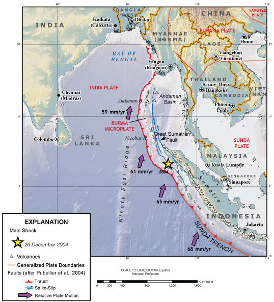 The 2004 Indian Ocean tsunami that killed nearly 230,000 people was one of the deadliest disasters in modern history. It was caused by a magnitude-9.1 earthquake where the Indian and Australian tectonic plates meet.