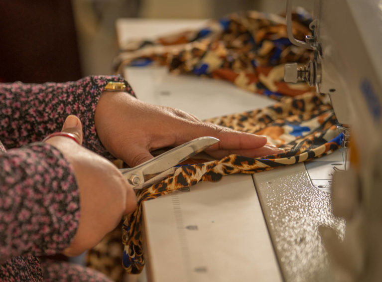 Together with World Vision and partners in Lebanon, Syrian refugee women are able to attend sewing lessons and workshops.
