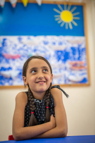 After fleeing Syria, the future for 10-year-old Yana looks sunnier because of the classes she attends at the learning support program run by Resurrection Church Beirut.