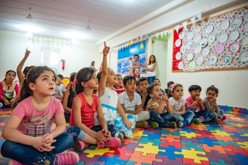 Children attend the Learning Support Project run by Resurrection Church Beirut, a partner of World Vision.