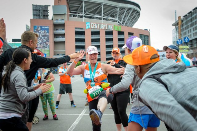 In 2017, Wendy Eckman ran the Seattle Rock n Roll marathon as part of Team World Vision to raise money for clean water in Africa. She ran in between her chemo appointments and finished strong!