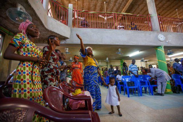 A worship service in Mali.