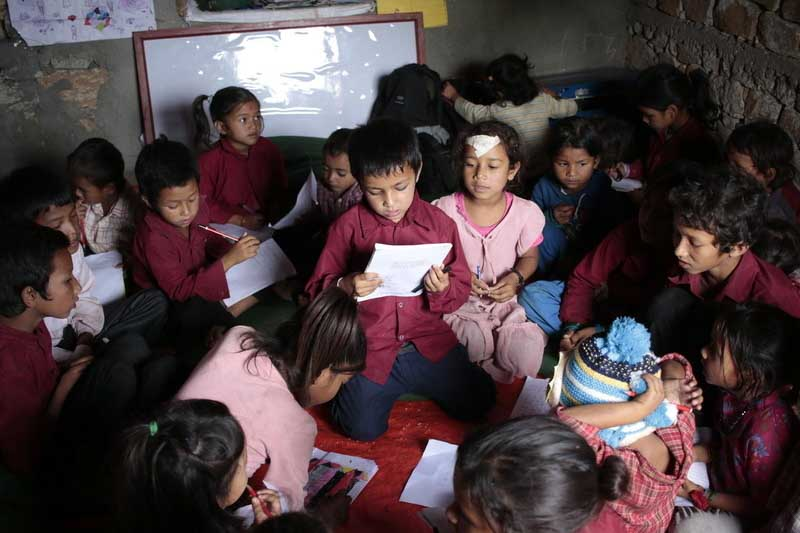 World Vision programs are increasing literacy for children across Nepal.
