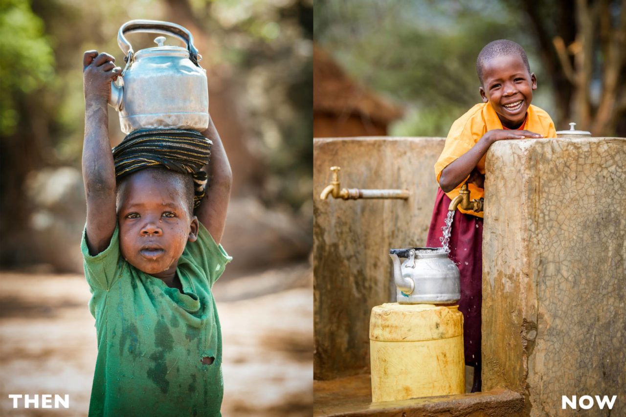 Even at 5 years old, Cheru Lotuliapus not only understood the struggle for clean water, she lived it. Now, blessings overflow along with the water 6-year-old Cheru collects from the tap near her home in West Pokot, Kenya.