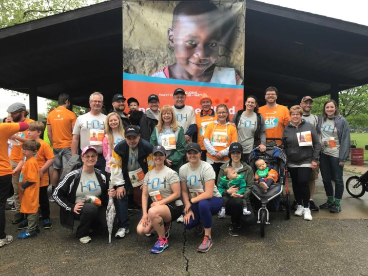 Employees from HOH Water Technology's Michigan location served as a host site for the 2018 Global 6K for Water.