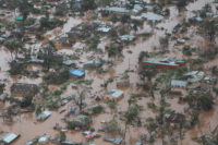 Cyclone Idai in Southern Africa. An aerial view of Mozambique's Sofala province shows standing water. Sofala and Manica provinces were the hardest hit by Cyclone Idai.