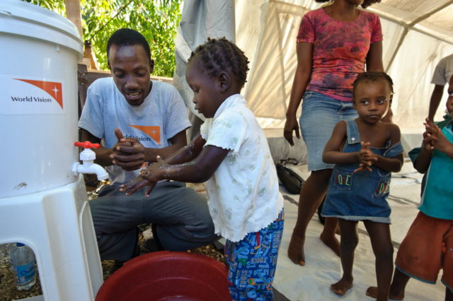 In 2010, after a massive earthquake, Cholera returned to Haiti after more than 100 years. Children in a World Vision Child-Friendly Space and Early Childhood Center learned about cholera (spelled kolera in Haitian Creole) and practiced handwashing to avoid contracting the disease. Haitian health officials reported in October 2018 that more than 819,000 people had been infected and nearly 10,000 had died since the outbreak began.