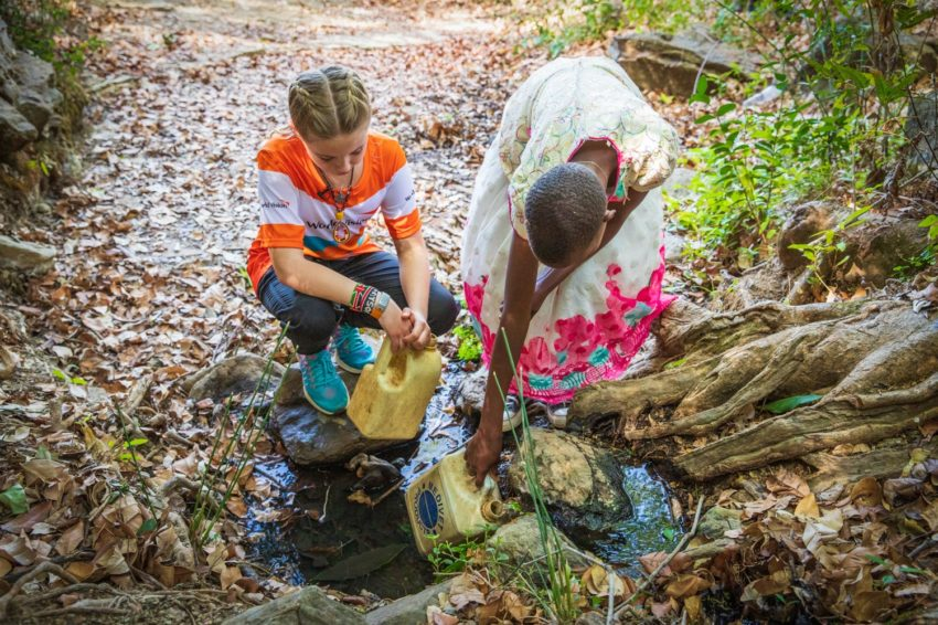Quest to end water crisis: Addyson Moffitt, 7, was moved to run two half marathons and raise $60,000 when she learned how children her age often walk 6 kilometers for dirty water.