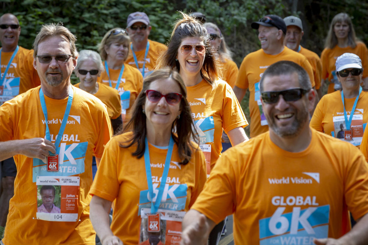 Nicole Wetmore walks the Global 6K for Water in Placerville, California. Nicole is the host site leader for Green Valley Community's Church's participation in the 6K event and subsequent Celebration Sunday.
