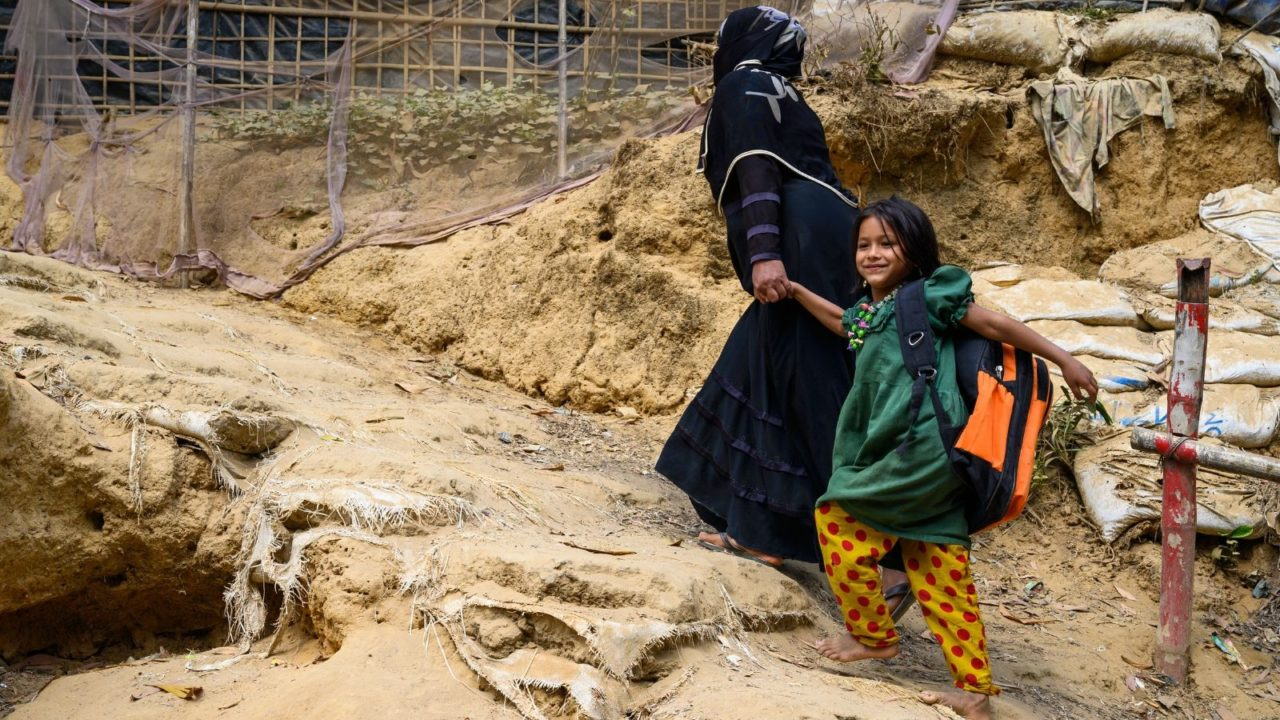 For 12 hours, we walk with 5-year-old Jannatul through what a typical day might look like for her as a Rohingya refugee child in a camp in Bangladesh.