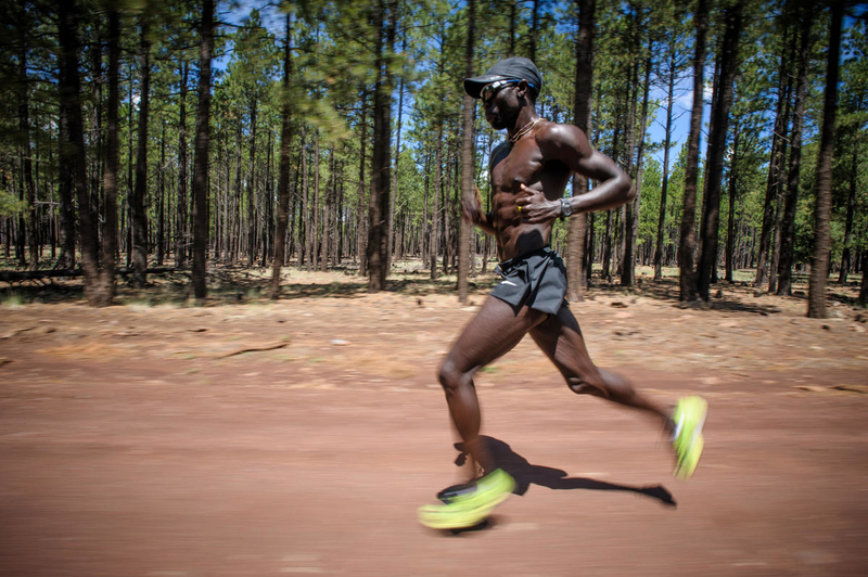 Lopez Lomong, an Olympian runner for Team USA, trains in Flagstaff, Arizona, just before the London 2012 Olympics.