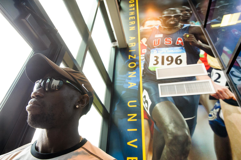 Lopez Lomong ran at Northern Arizona University before going on to run on the U.S. Olympic team.