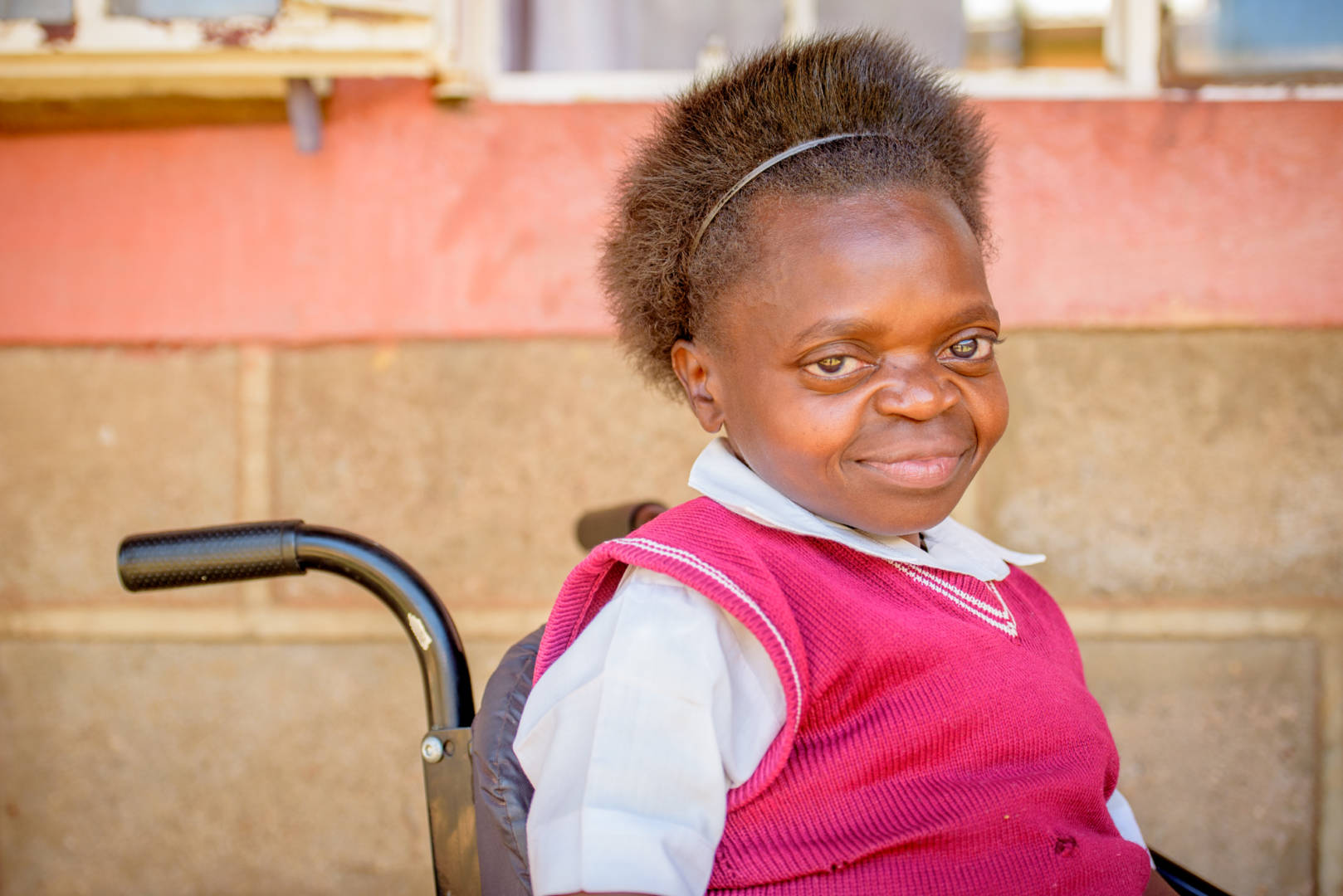 Sixteen-year-old Judith Ajwang says she has a brighter future thanks to the new wheelchair she received through ACCESS — a USAID-funded and World Vision-implemented project.
