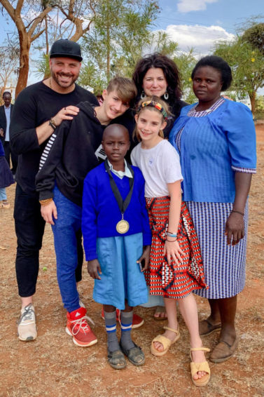 An American family meets the sponsored child in Kenya who chose them