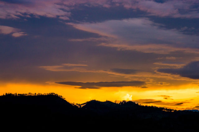 sunset in Honduras