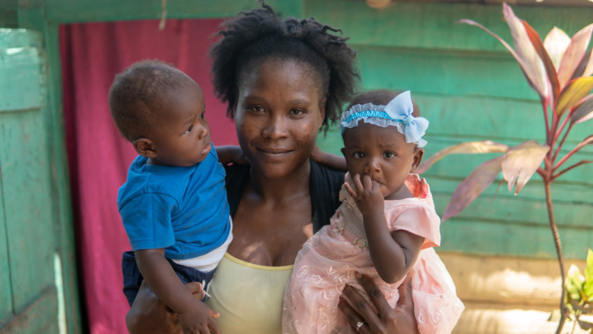 Haiti is the poorest country in Latin America and many families suffer from malnutrition, violence, and lack of sanitaiton. A mom in Haiti participates in World Vision's Go Baby Go! program that promotes postive parenting and healthy living for kids.