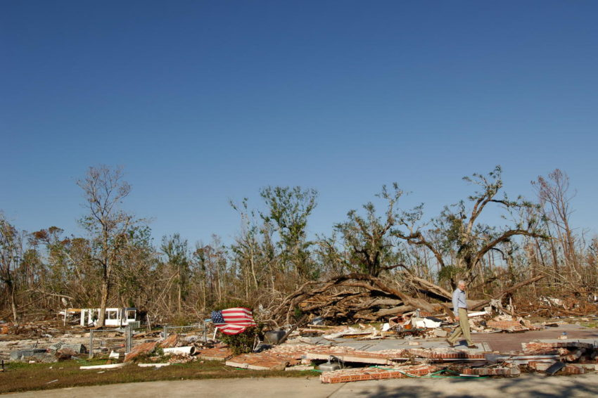Hurricane Katrina flattened much of the coast of Louisiana and Mississippi. Rich Stearns, then-president of World Vision U.S., visited the area to comfort families impacted by the disaster and meet with church leaders whom World Vision equipped to participate in the recovery.