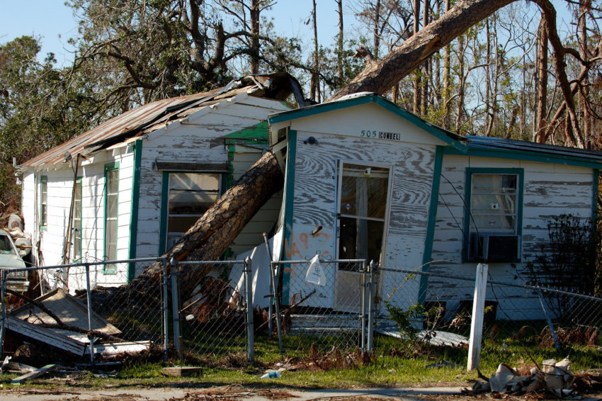 2005 Hurricane Katrina destroyed more than 850,000 homes in the U.S. Gulf Coast region, including this one in Mississippi.