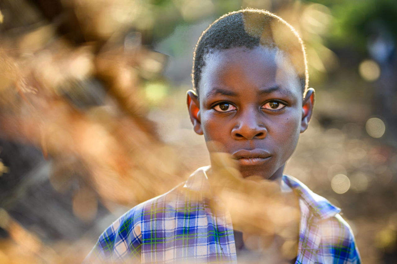 Portrait of 10-year-old Beauty, Ireen's brother in Malawi.
