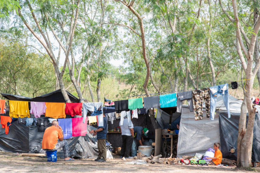 More than 2,500 people, largely from the Northern Triangle of Central America, have tried to create a semblance of shelter in a city park in Matamoros, Mexico, near the U.S. border. Children and families have fled their homes, mostly due to violence and insecurity. Some have been here since July 2019, waiting for asylum hearings and hopes of a new life in the United States. A local pastor has been ministering to the camp residents and distributing World Vision supplies, including tents, tarps, blankets, hygiene kits, diapers, food kits, and more.