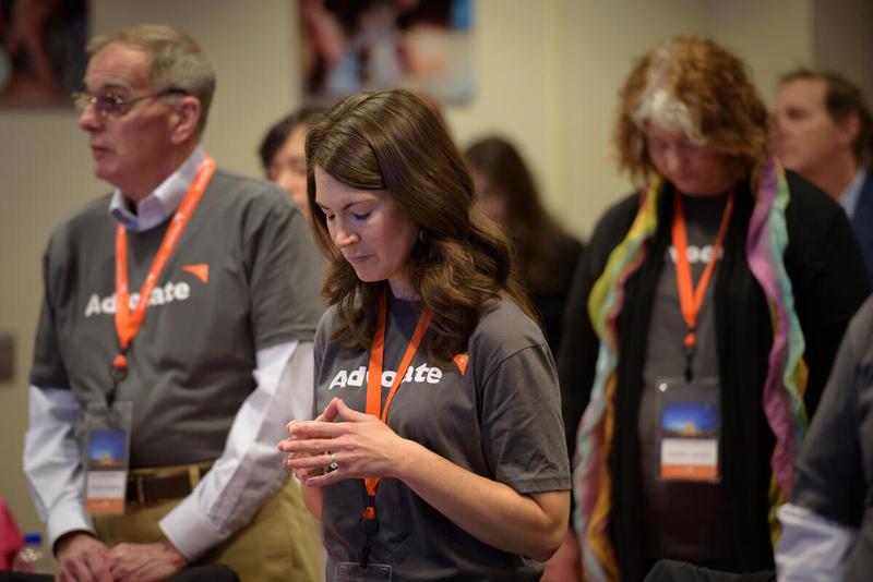 World Vision Volunteer Advocates pray in Washington, D.C.