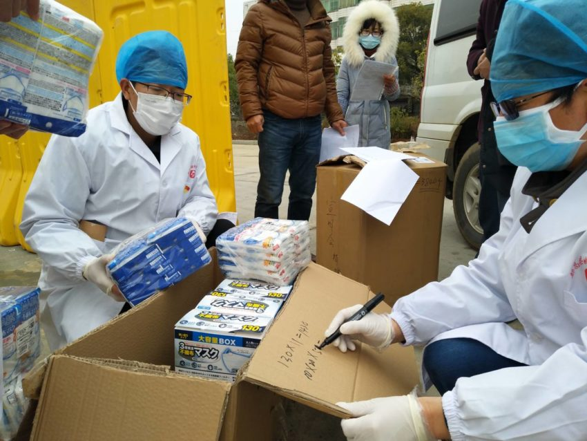 World Vision in China delivers protective gear to healthcare workers in China.