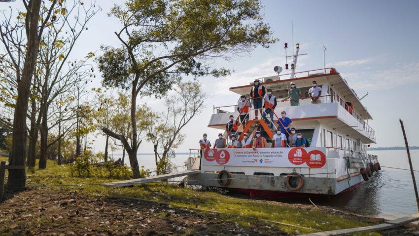 The hospital ship Solidarity responding to crisis along the Amazon River