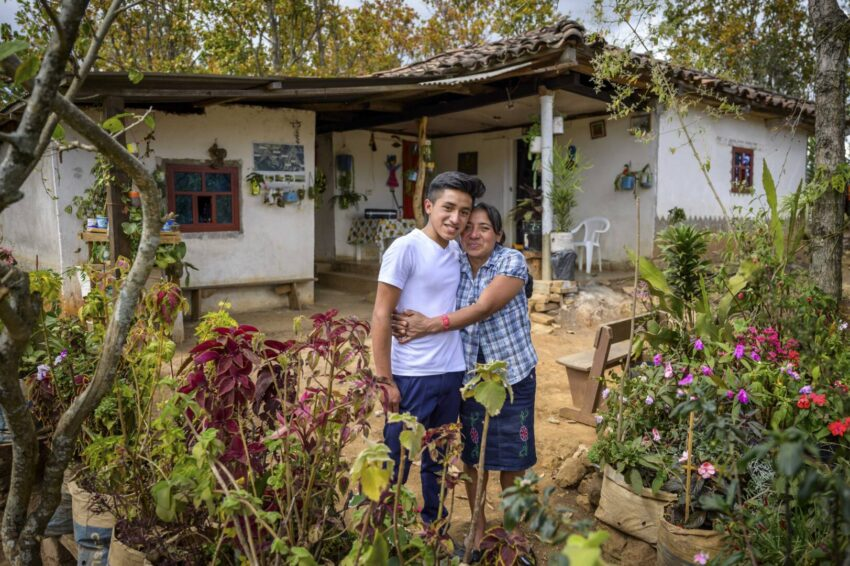 Ever, 16, and his mom, Carmen, are part of a thriving community in Yamaranguila, Honduras. The community has benefitted from World Vision's child sponsorship and community development model.