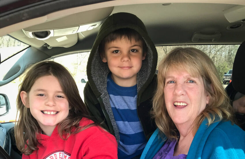 """Grandmother Candace Shrader calls World Vision Family Emergency Kits a """"lifesaver"""" to help her as she faces reduced hours at her job due to the COVID-19 pandemic."""
