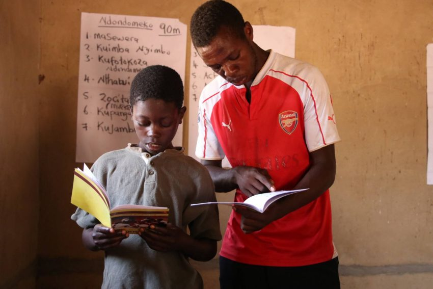 Twelve-year-old Rabson gets the opportunity to read aloud at a reading camp held in his village every weekend.