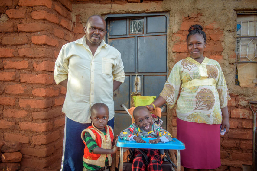 """Boniface Wambua says that when he learned of his son's disabilities, """"I felt like God hated me — that it was a curse."""" Thanks to disability inclusion training he received from World Vision, he now sees his son as a gift from God."""