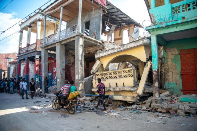 Damage from Haiti earthquake August 14, 2021.